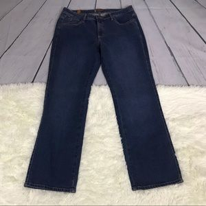 Aura Short Rise Blue Jeans With Five Pockets